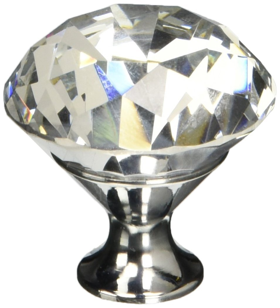 Abbott Collection Home Large Flat Crystal Drawer Knob JAMCHI 27-HOME/92