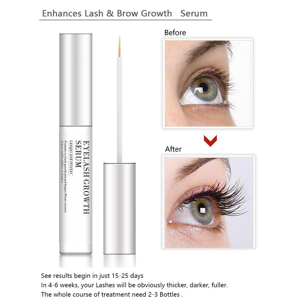 7cacdd22b9c Amazon.com: Eyelash Enhancers Nourishing Serum, Makeup Lash Rapid Growth  Liquid Enhancer Serum Thicker Longer Luscious Eyelashes Renew with  Blackhead ...