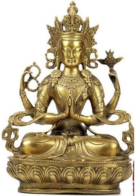 SHENBEIK Estatua de Buda Shun Guanyin Buddha de Cuatro Brazos ...