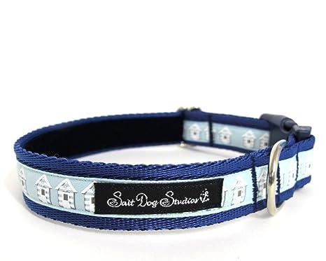 Salero perro Studios azul collar de perro de casetas de playa