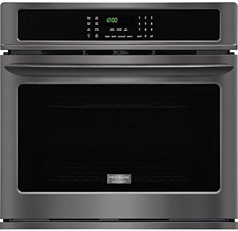 Frigidaire Gallery 2-Piece Black Stainless Steel Kitchen Package wtih FGEW3065PD 30'' Single Wall Oven and FGGC3047QS 30'' Gas Cooktop