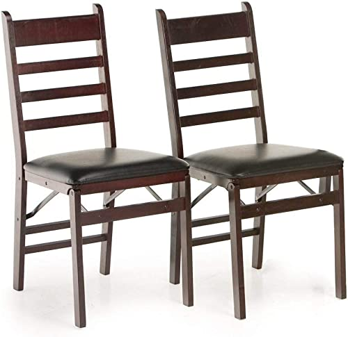 2 NEW COSCO Wood Vinyl Commercial Folding Chair 2 Pack Pair