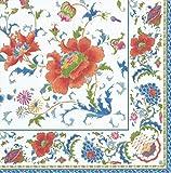 Thanksgiving Napkins Christmas Napkins Winter Wedding Paper Cocktail Napkin Blue & White Pk 20