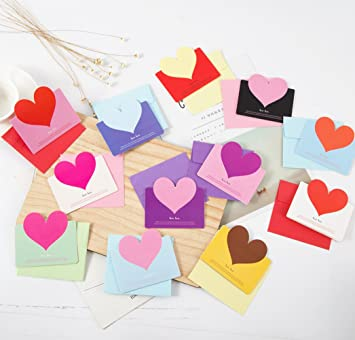 Amazon shopline 24 pieces romantic greeting cards handmade shopline 24 pieces romantic greeting cards handmade love cards with heart design and envelope for m4hsunfo