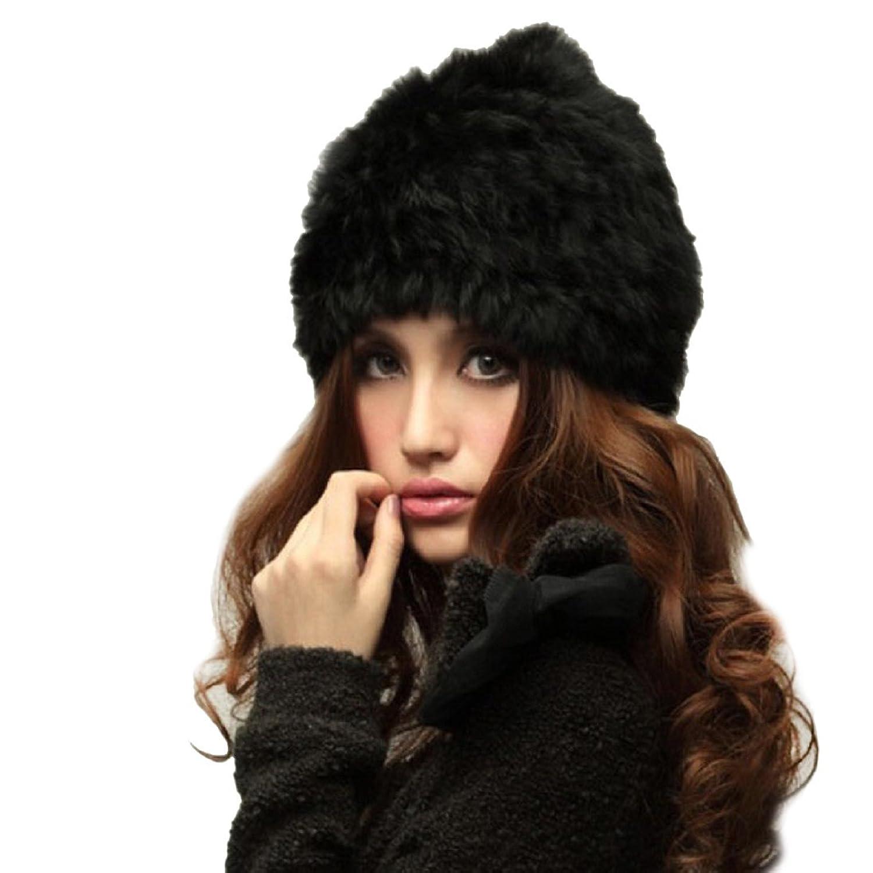 Frauen Wintermütze DDLBiz® 1PC Mode für Frauen Kaninchen-Pelz gestrickter Winter-warme Hut-Kappe
