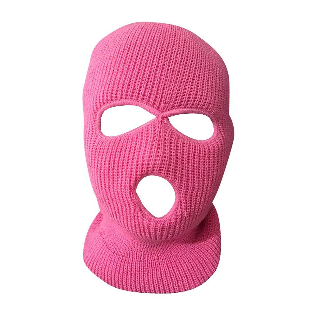 YGQersh Arm/ée Tactique Hiver Chaud Ski Cyclisme 3 Trous Balaclava Capuchon Masque pour Le Visage Complet Vin Rouge