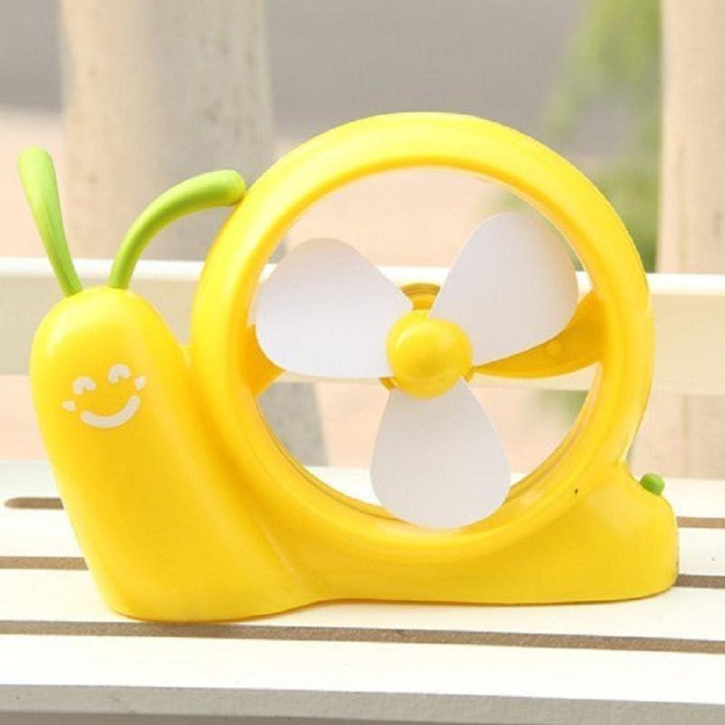 Blue Eplze Cartoon Snail Design Mini Portable Fan PC USB Power Laptop Desk Cooling Fan