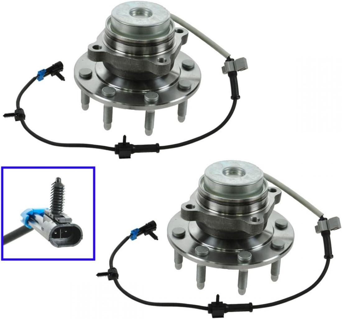 Wheel Hub /& Bearing Front Pair for Chevy GMC Van Pickup Truck 2x4 2WD 8 Lug