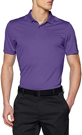 NIKE New DRI FIT Victory Solid Golf Polo Court Purple/Black Small ...