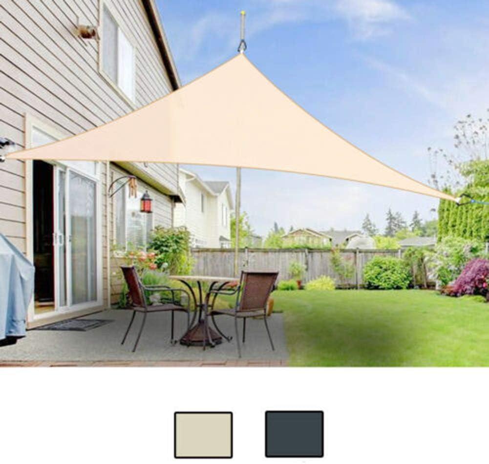 HMLIGHT Impermeable Refugio Triángulo del Sol Protección Parasol Canopy al Aire Libre Jardín Patio Piscina Toldo de Vela Toldo Camping Sombra de Tela Grande,Beige,3 * 3 * 3m: Amazon.es: Jardín