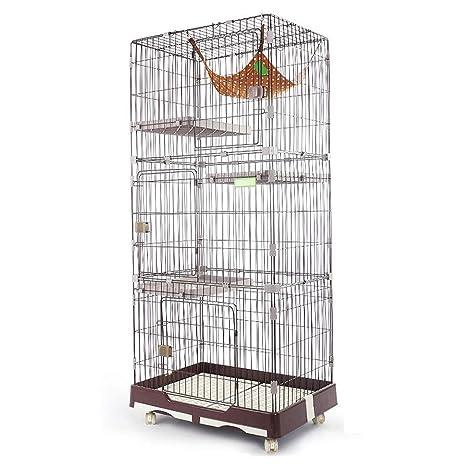 YLCJ Jaulas para Gatos jaulas para el hogar para Gatos de 4 ...