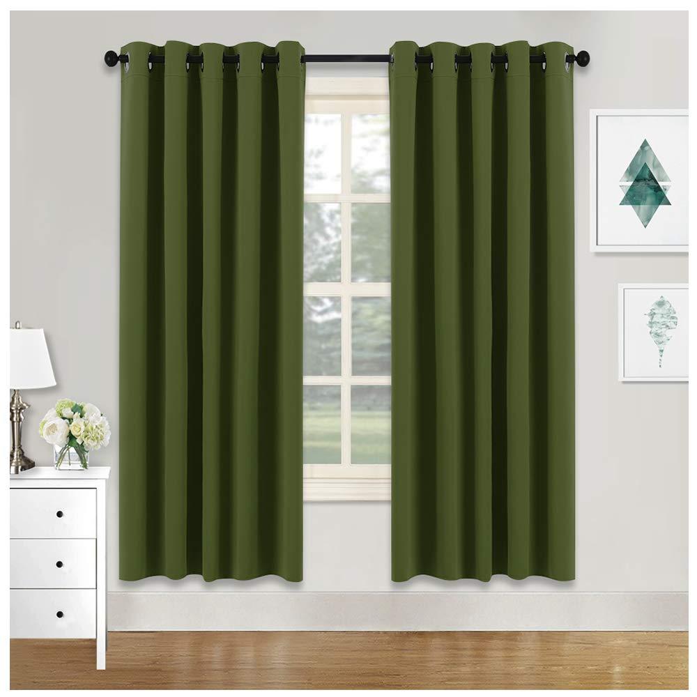 green blackout curtains. Black Bedroom Furniture Sets. Home Design Ideas