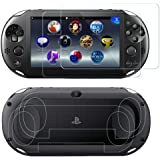 SNNC PlayStation Vita 2000 Screen Protector Anti-Scratch Tempered Glass Film Shield Games Console Joy Con Accessories…