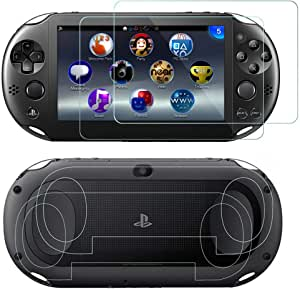 SNNC PlayStation Vita 2000 Screen Protector Anti-Scratch Tempered Glass Film Shield Games Console Joy Con Accessories Case For PSV2000