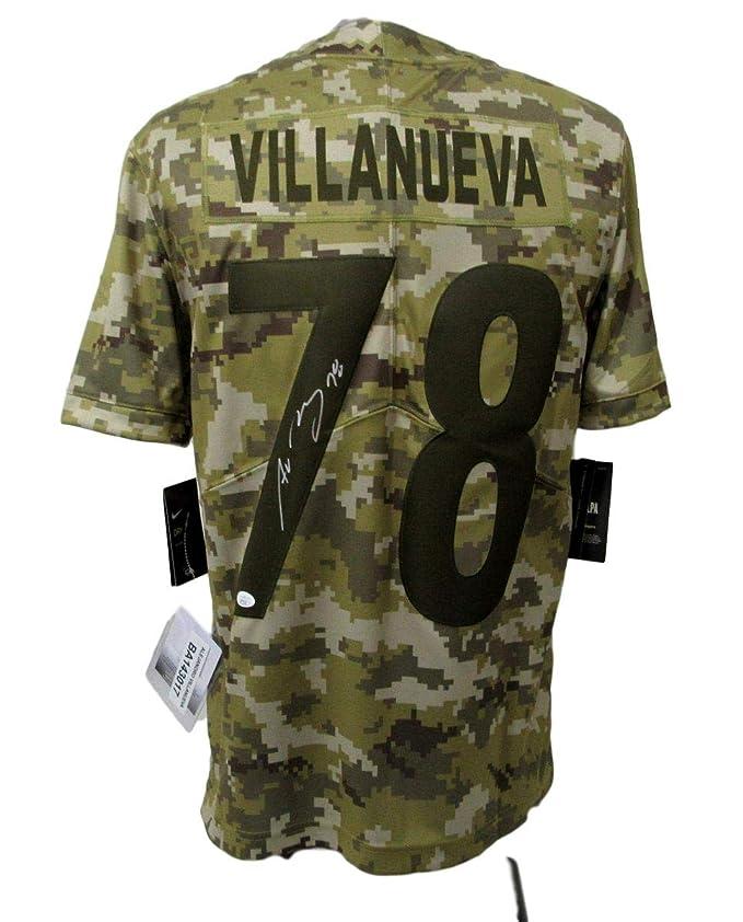 best service 7c07a 8f910 Alejandro Villanueva Signed Steelers Camo Salute to Service ...