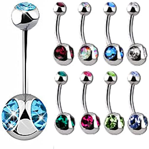 10pcs//pack Fashion Colorful Acrylic Piercing Body Belly Navel Bar Studs Jewelry