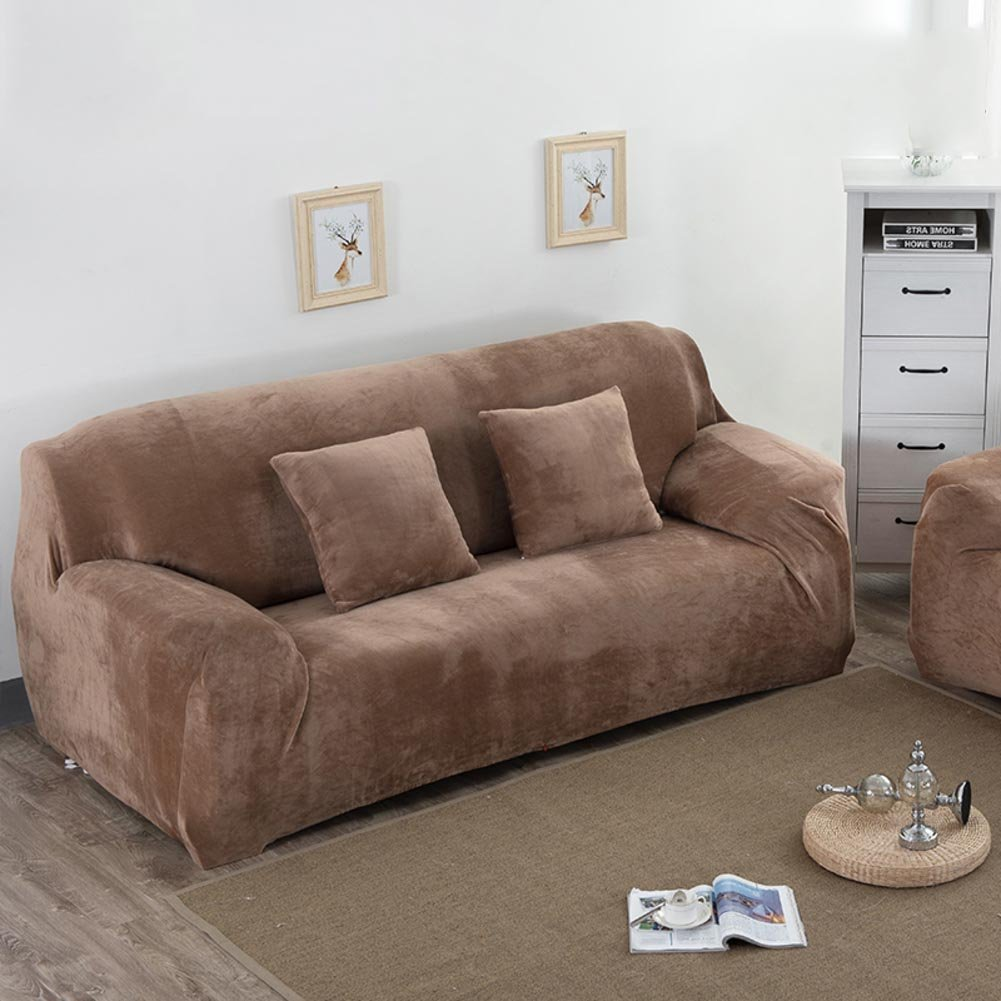Amazon com suede sofa coversstretch sofa slipcoversfurniture protectorsolid color thicken couch cover throw for 1234 cushion covers l 4 seaters home