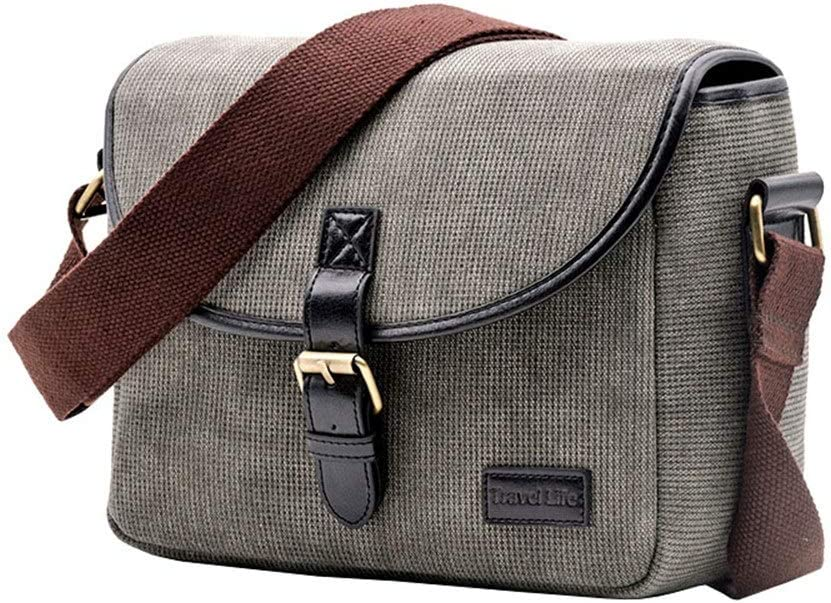 YADSHENG Camera Backpack Bag Casual SLR Camera Bag Messenger Bag One Camera 1 Mirror 2 Mirror Photography Backpack Camera Cases Color : Blue, Size : 25x18x12cm