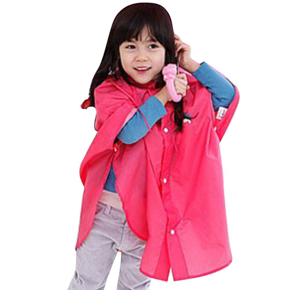 hibote bébé Enfants pluie Poncho Poncho capuche imperméable Taille 80-100cm (S / Rouge) hibote Network technology Ltd
