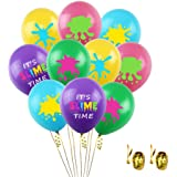 UTOPP 50Pcs Slime Balloons for Slime Birthday Party, It's Slime Time Party Balloons Bouquet, 12 Inch Latex Balloons for Kids