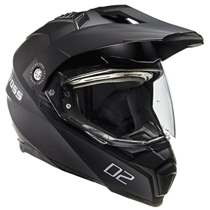 Voss 601 D2 Dual Sport Helmet with Integrated Sun Lens and Ratchet Quick Release System -