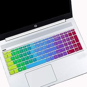"MUBUY Keyboard Cover for 15.6"" HP ProBook 450(G5/G6/G7) 455(G5/G6/G7) 650 G4 |17.3"" HP ProBook 470 G5 (Not Fit ProBook 450/455 G4 G3 G2 G1, ProBook 650 G1 G3 G2 G1)-Rainbow"