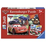 Ravensburger Disney Cars: Worldwide Racing Fun (3 x 49-Piece) Puzzles in a Box