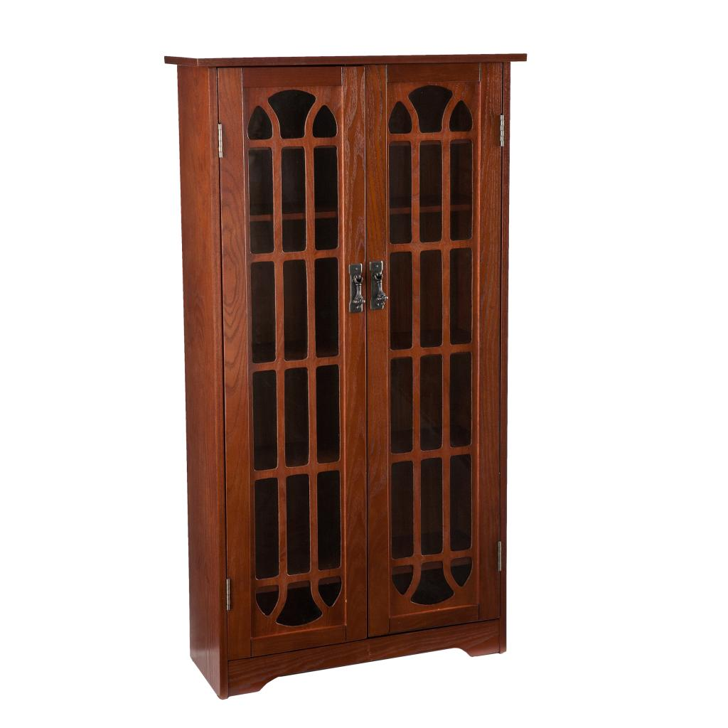 Amazon Com Window Pane Media Cabinet Cd Amp Dvd Holder W