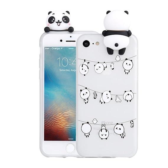 wholesale dealer 6e947 21251 3D Cartoon Panda Case for iPhone 5 5S SE Case LAPOPNUT Soft Back Cover  Candy Colour Cute Girly Bear Design Ultra Slim Flexible Protective Case  Cover ...