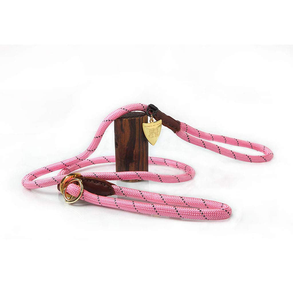 A Pets Lead Hands Free Premium Running Dog Cat Leash Soft Barrel Handle Animals Training Leash Rope. (color   A)