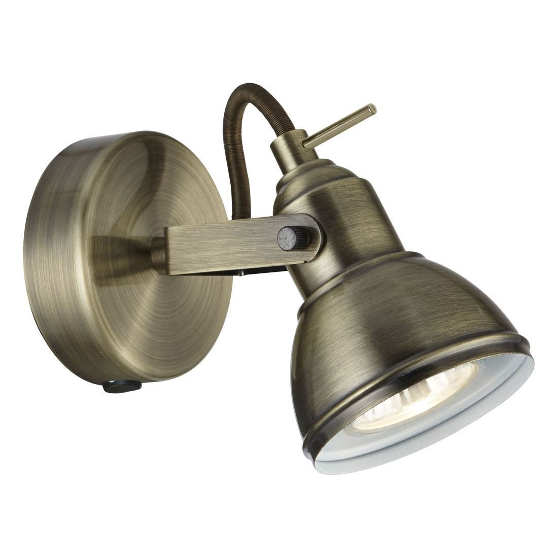 INDUSTRIAL 1 LT ANTIQUE BRASS SPOTLIGHT [Classe di efficienza energetica A] Searchlight 1541AB