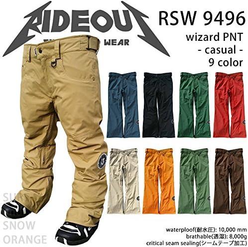 ∴スノーボード ウェア/ パンツ rideout(ライドアウト) wizard pants RSW9496 14-15 メンズ レディース 無地