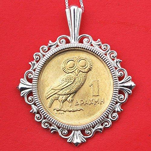 1973 Greece 1 Drachma Athena's Owl & Phoenix Gem BU Uncirculated Coin Sterling Silver ()
