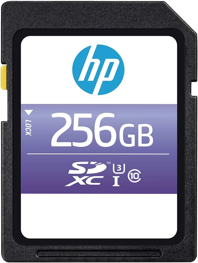 HP 256GB sx330 Class 10 U3 SDXC Flash Memory Card (P-SD256U395HPSX-GE)