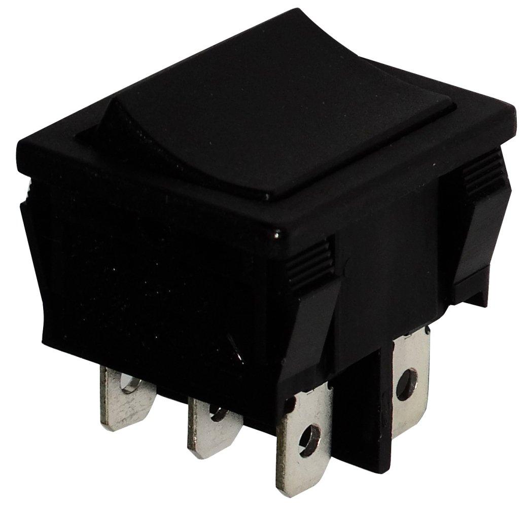 2 posiciones Negro C10812 AERZETIX Interruptor conmutador basculantes de boton DPDT ON-ON 6A//250V