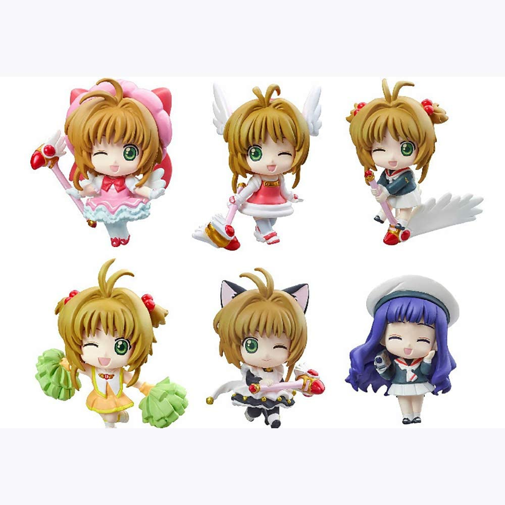 Ikdwd Anime Character Card Captor Sakura Eyes Closed 6 Character Dolls Collectible Statue Decoration Animation Character Model Action Figure Amazon Co Uk Kitchen Home