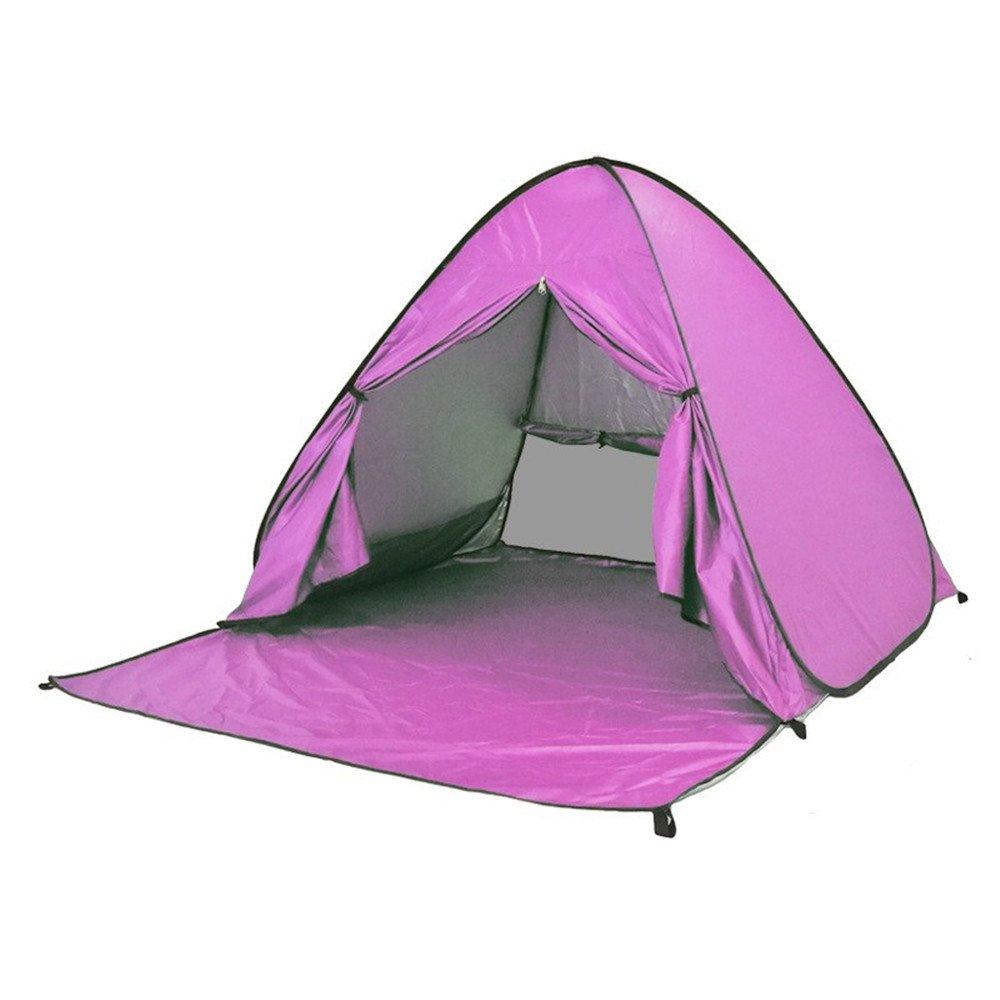 bis 3-Personen-Zelt f/ür Strand oder Rucksack mit Tagetasche Baby Pool Beach Zelt Portable Lightweight Outdoor Shade UV Schutz Sun Shelters F.lashes Pop-Up-Zelt leichtes 2