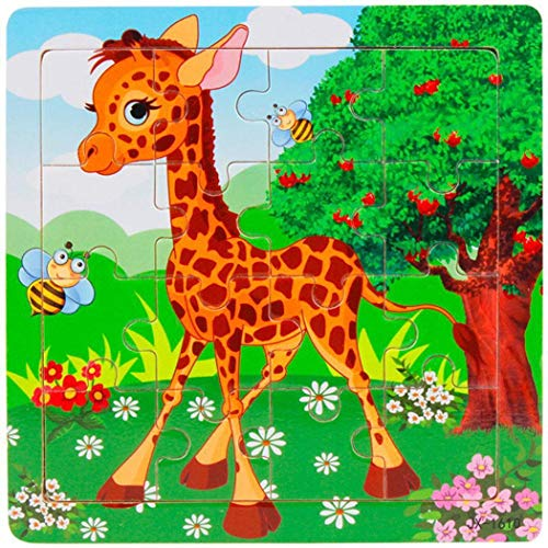 piokikio Kids Wooden Various Pattern Puzzles Toys Early Educational Learning Puzzles Toys from piokikio