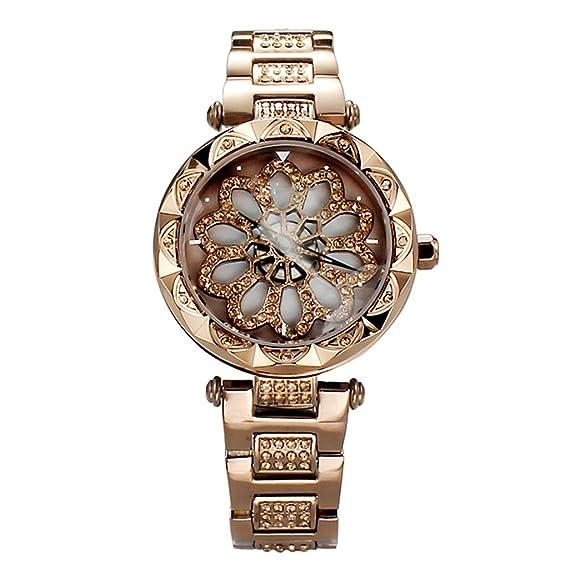 Reloj de señoras 2018 reloj de pulsera de acero de reloj de pulsera de acero de reloj de regalo de mujer de nueva moda: Amazon.es: Relojes