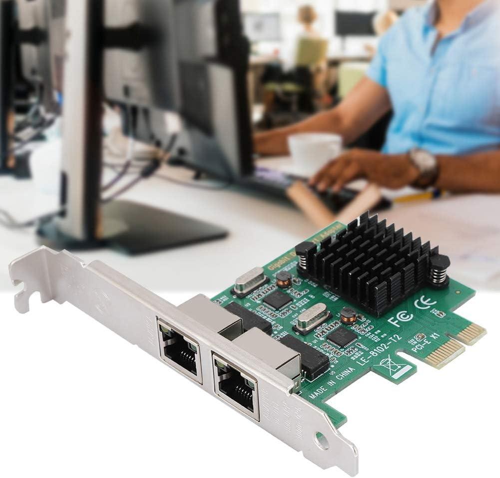 for Linux ASHATA PCI Express Network Card 10//100//1000Mbps RJ-452 Dual-Port PCI-Ex1 Gigabit Network Card for 8102-T2 for XP for Win7 for Win8 for Win8.1 for Win10