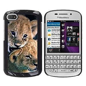 TopCaseStore / la caja del caucho duro de la cubierta de protección de la piel - Puppy Fur Baby Nature Animal - BlackBerry Q10