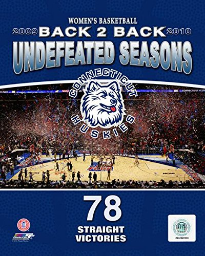 (2010 University of Connecticut Huskies Women's Basketball Back to Back Undefeated Seasons Art Poster PRINT (Size: 11