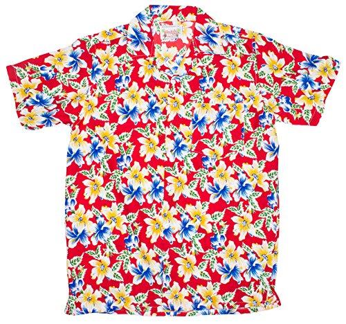 ragstock-mens-three-color-floral-print-hawaiian-shirt-red-large