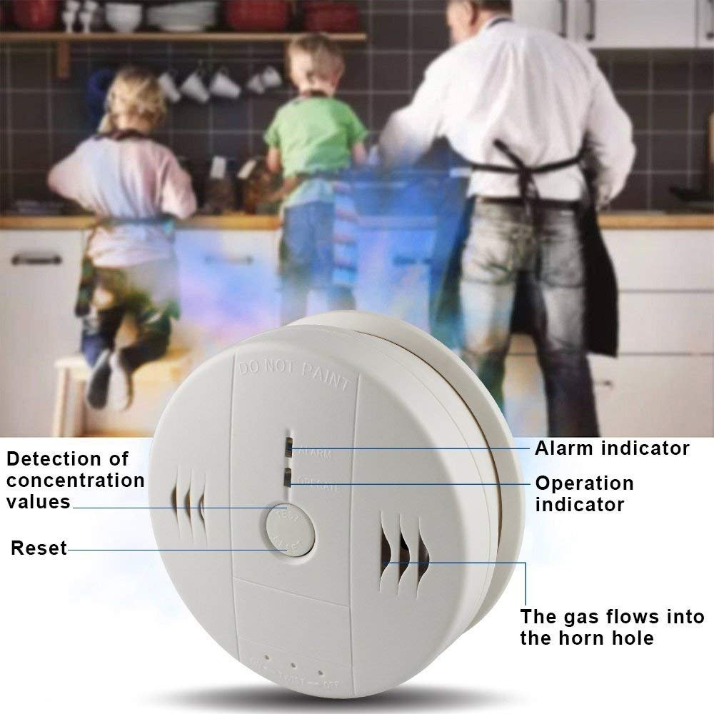 Combination Smoke and Carbon Monoxide Detector Gas Detection Alarm,Firstbuy Voice Warning Carbon Detector Alarm Clock, Electronic Equipment, Power Detection Equipment, Battery Operated