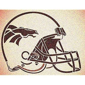 Various SZS Denver Broncos Logo Stencil Reusable Mancave Sports Football Stencils