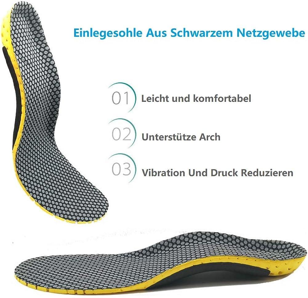 1 Paar 35//36 DishyKooker Einlegesohlen aus Leder orthop/ädische Silikoneinlagen 25 mm f/ür flaches Fu/ßgew/ölbe