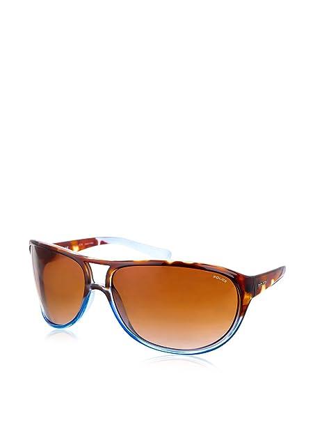 Police Gafas de Sol S1864M-07QM (95 mm) Havana/Azul: Amazon ...