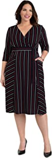 product image for Kiyonna Women's Plus Size Harmony Faux Wrap Dress