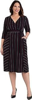 product image for Kiyonna Women's Plus Size Harmony Faux Wrap Dress