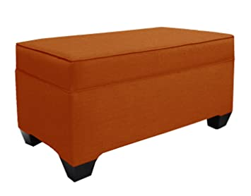 Gentil Skyline Furniture Upholstered Storage Bench In Patriot Tangerine
